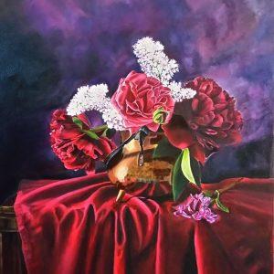 گل رنگ و روغن